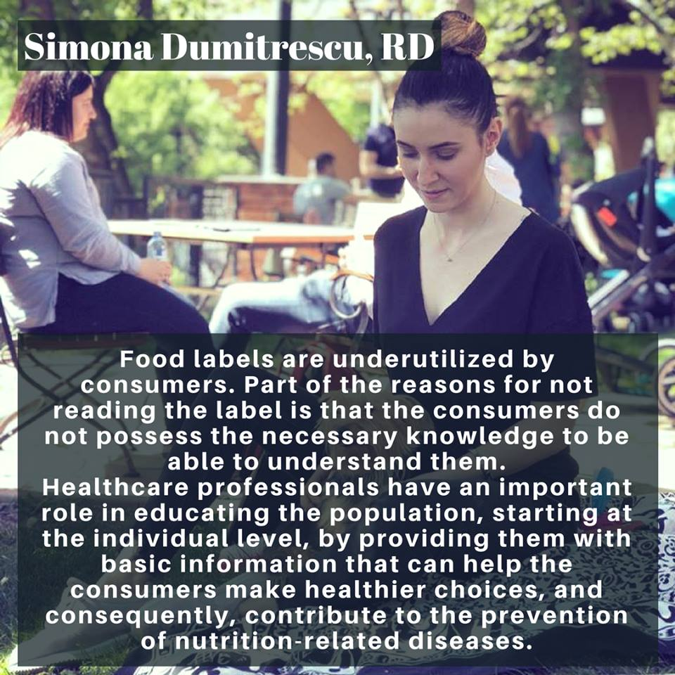 Nutrition trends food labels Simona Dumitrescu