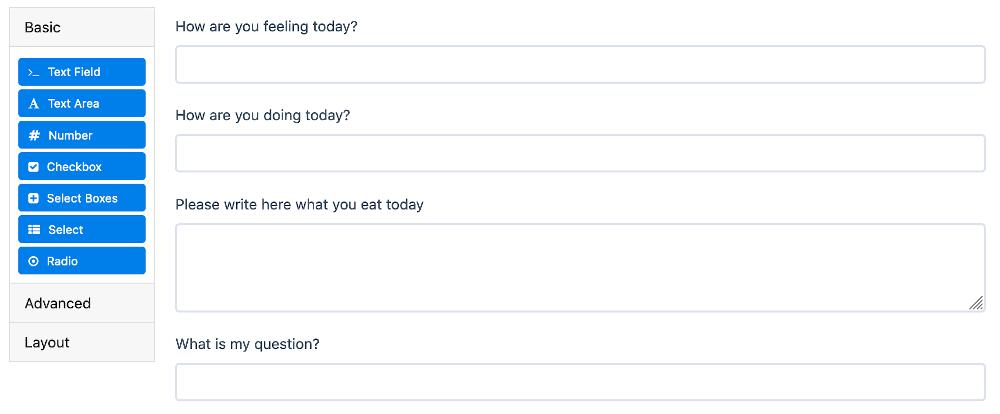 nutrition questionnaries
